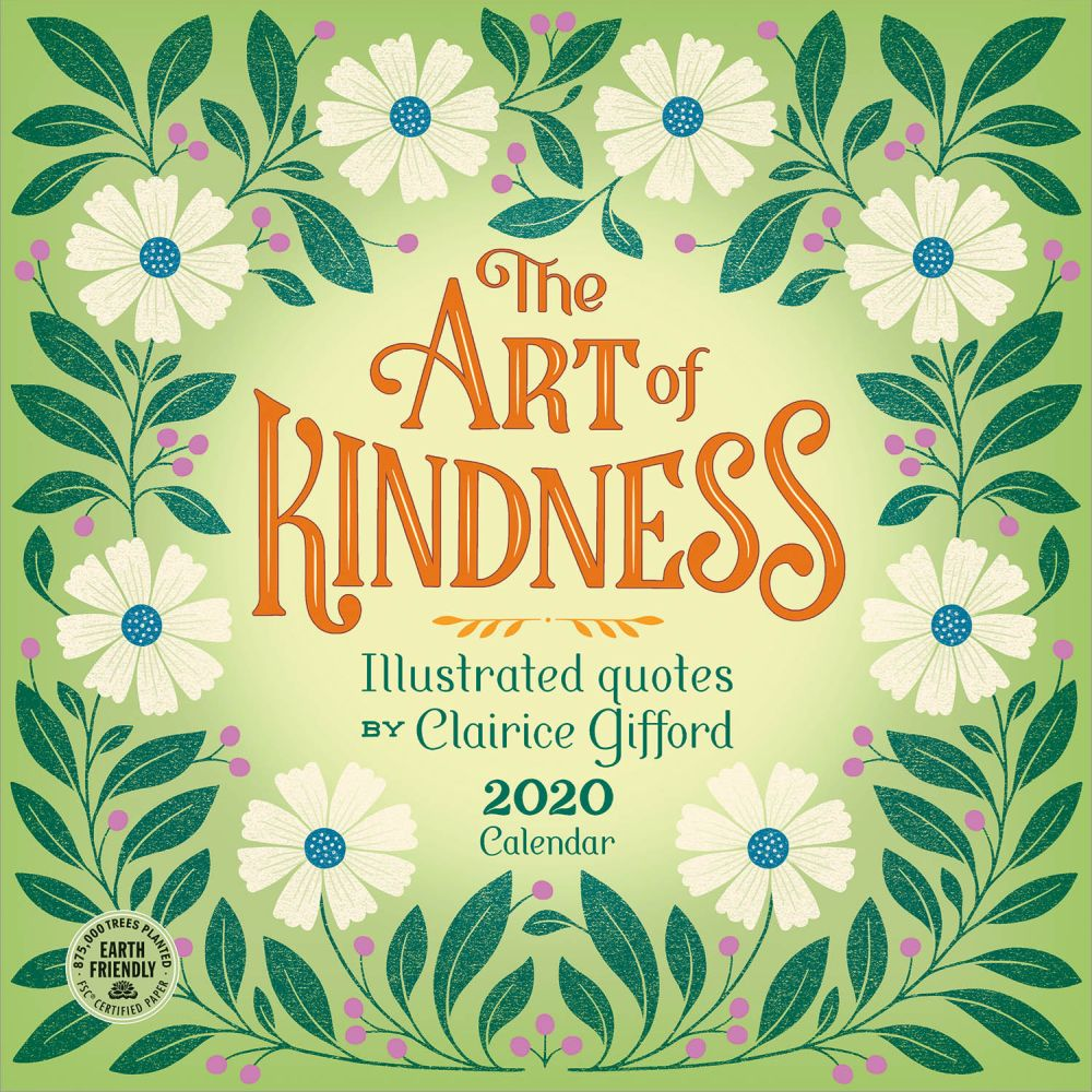 2021 Art of Kindness Quotes Wall Calendar