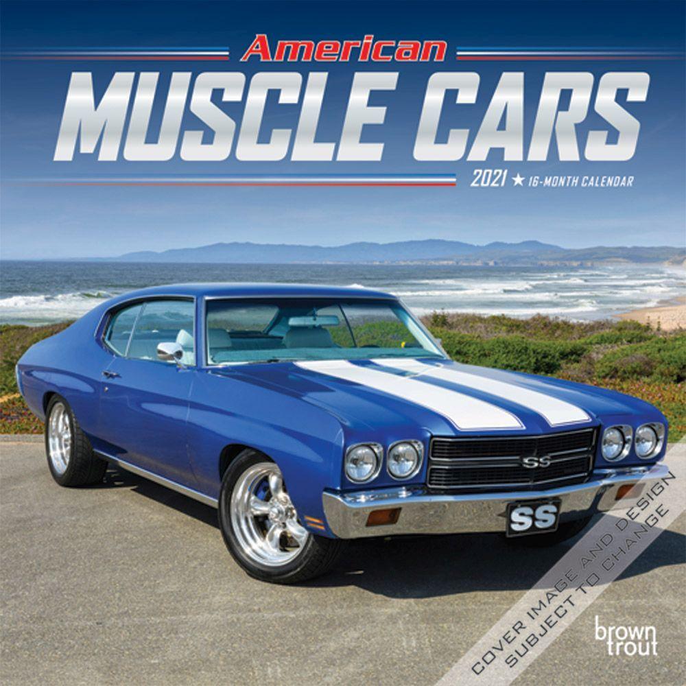 American Muscle Cars 2021 Mini Wall Calendar