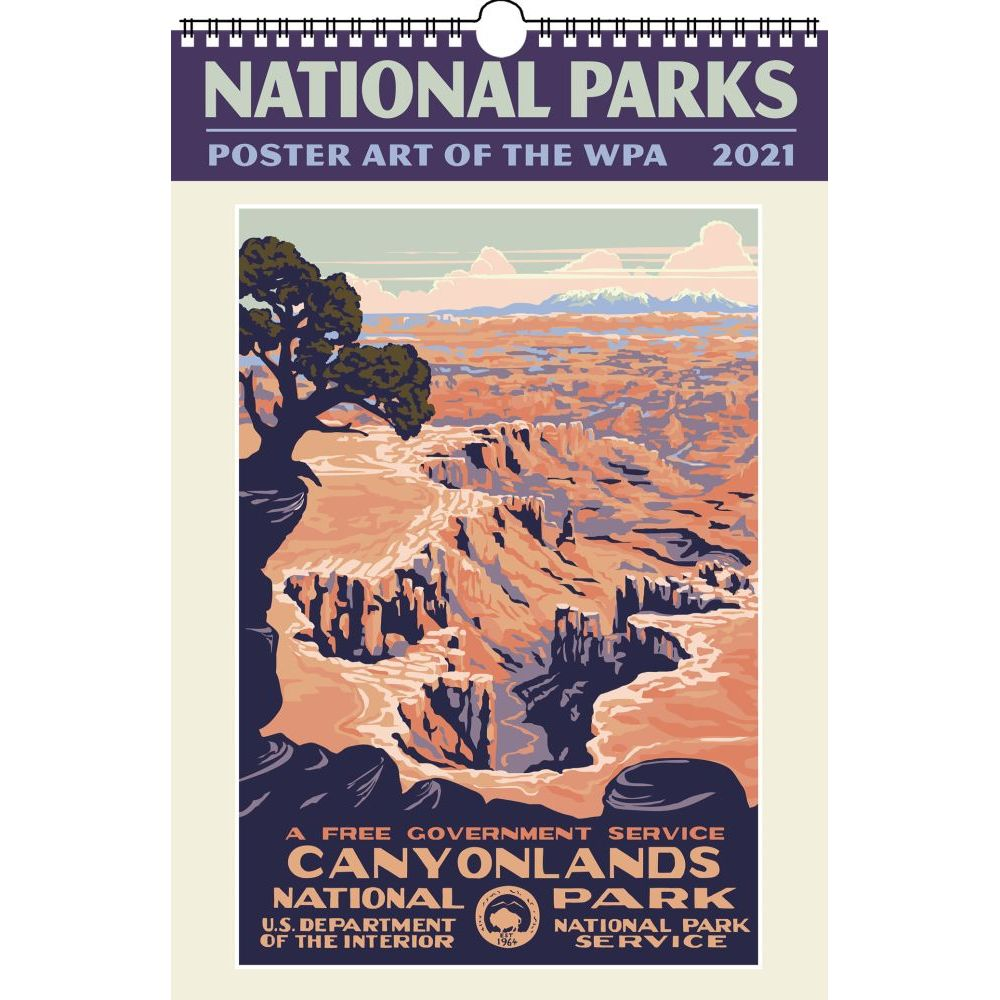 2021 Natl Parks Poster Art WPA Wall Calendar