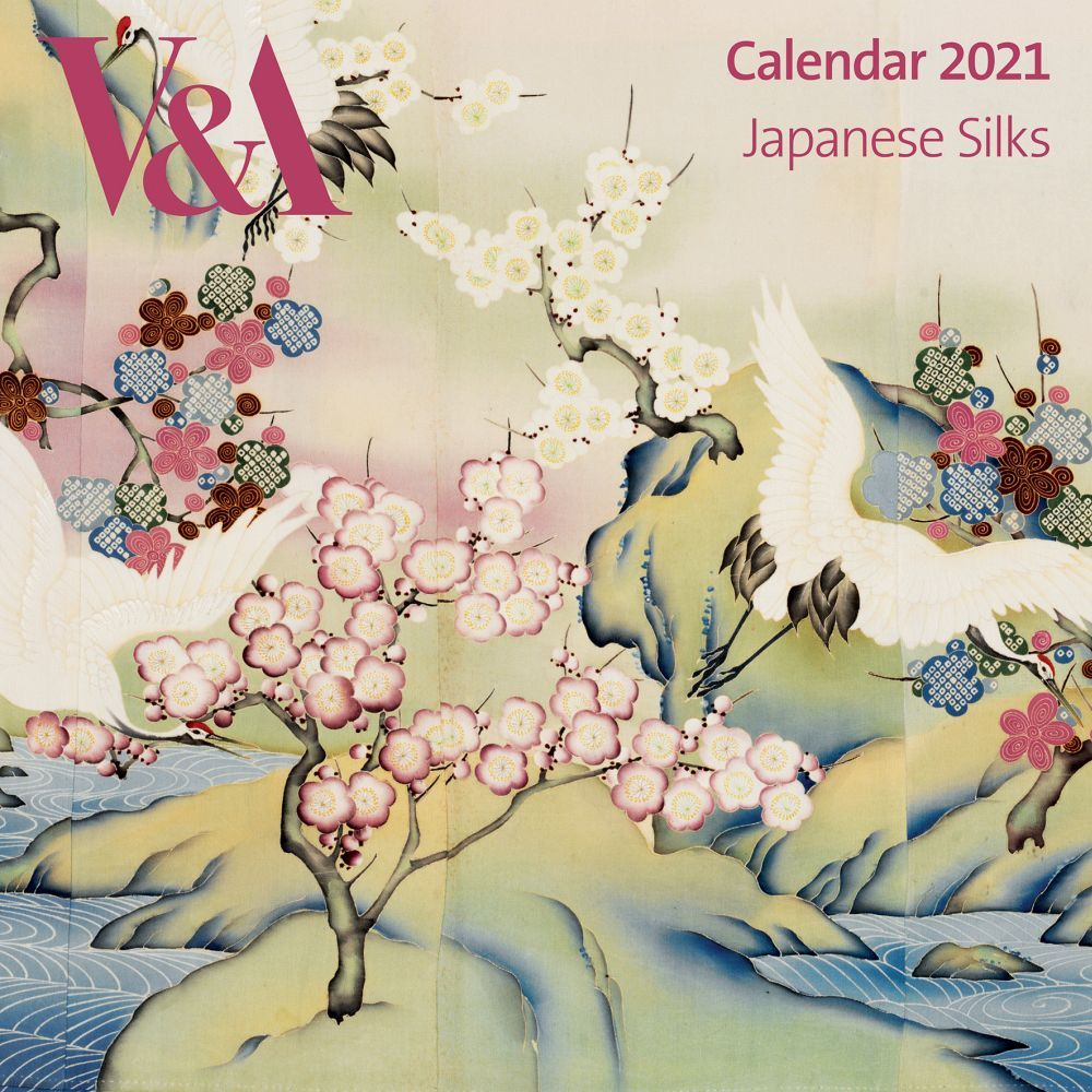 2021 Japanese Silks V&A Wall Calendar