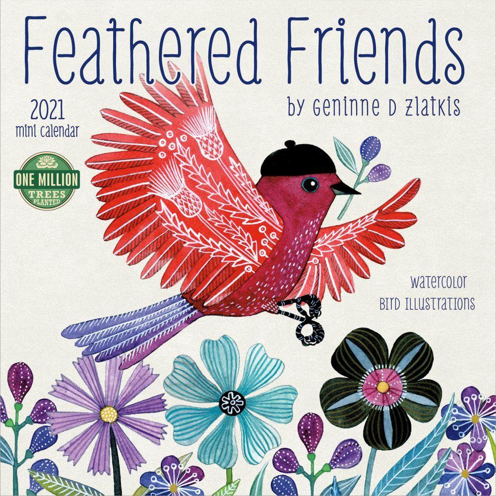2021 Feathered Friends Mini Wall Calendar