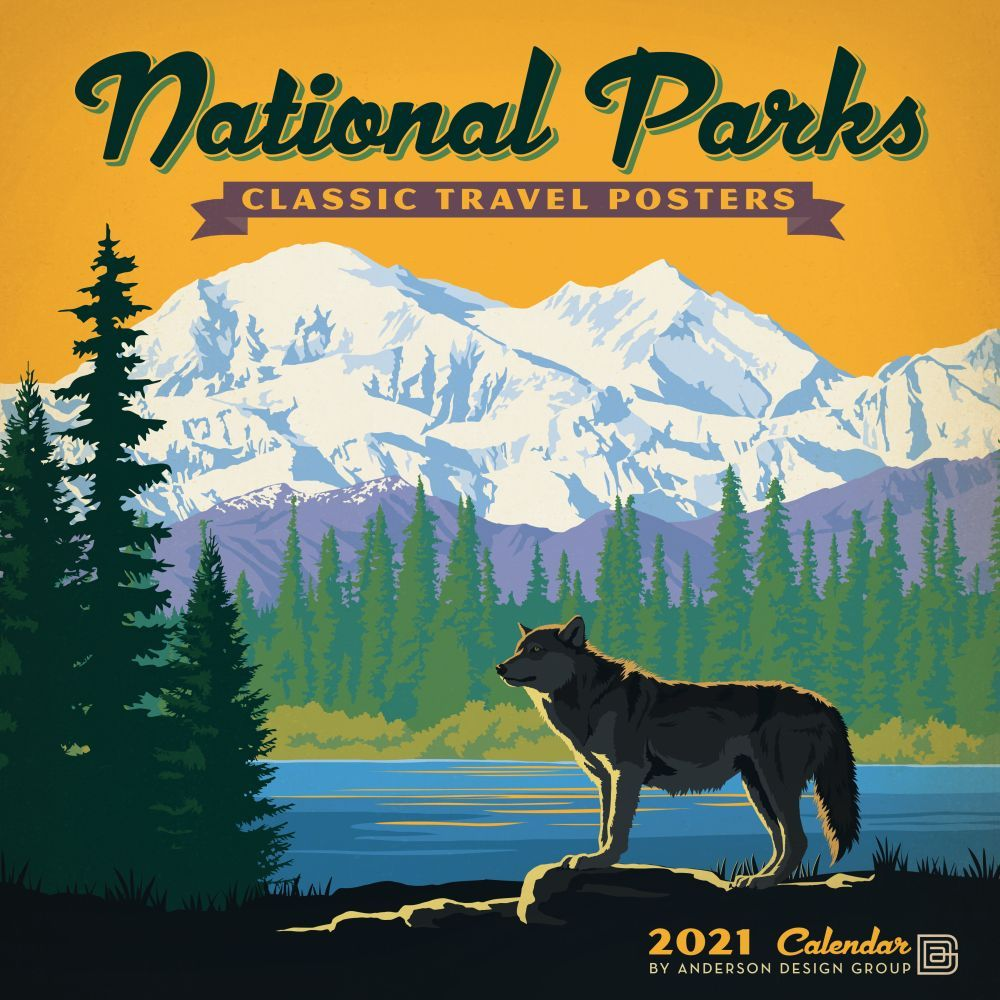 National Parks Classic Posters Wall Calendar