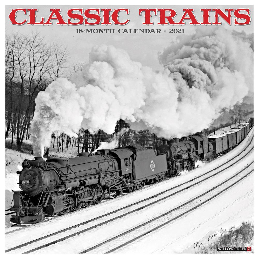 Best 2021 Classic Trains Wall Calendar