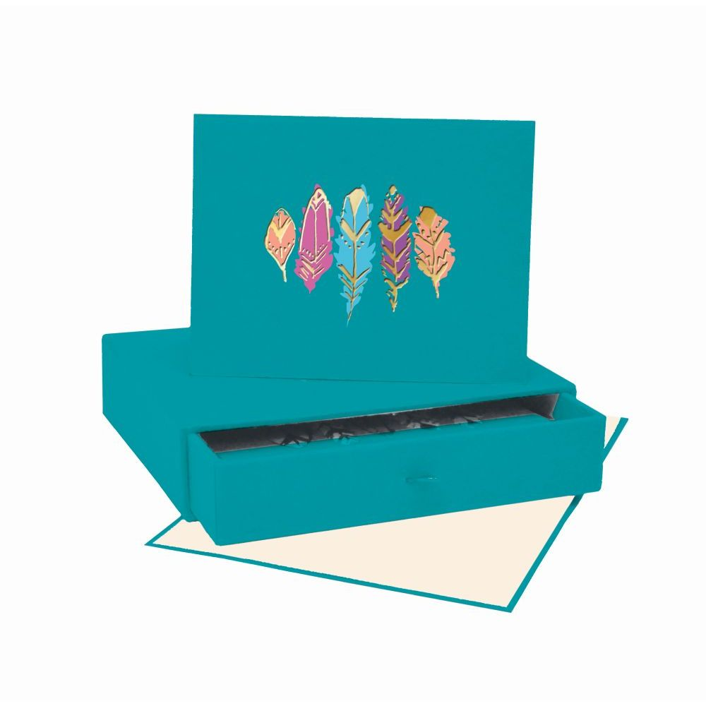 Barbarian-Brilliant-Feathers-(Blue)-Note-Cards-w-Keepsake-Box-1