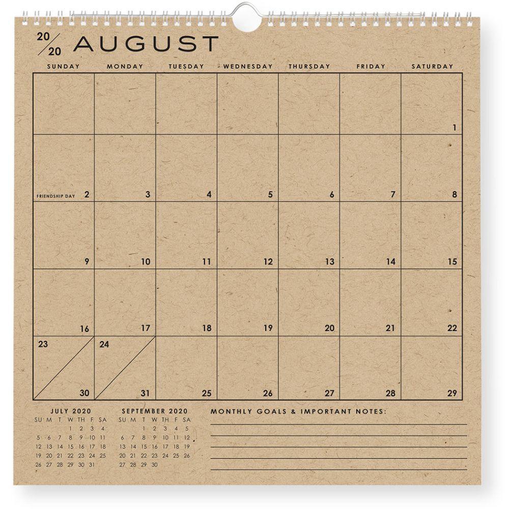 2021 Classic Grid Wall Calendar