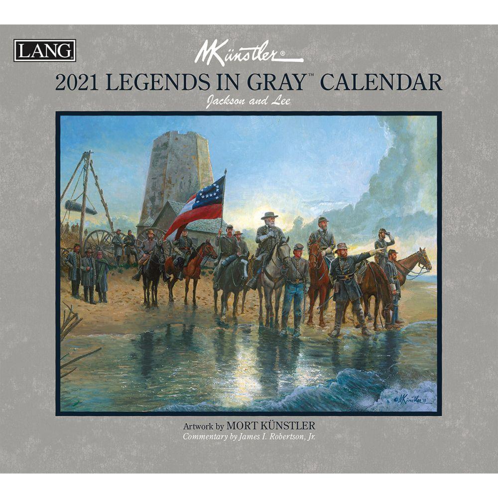 Legends in Gray 2021 Wall Calendar by Mort Kunstler