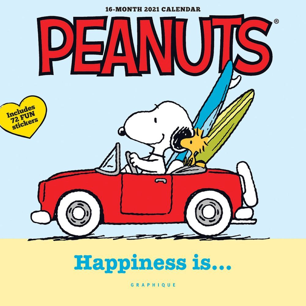 2021 Peanuts Happiness Is Mini Wall Calendar