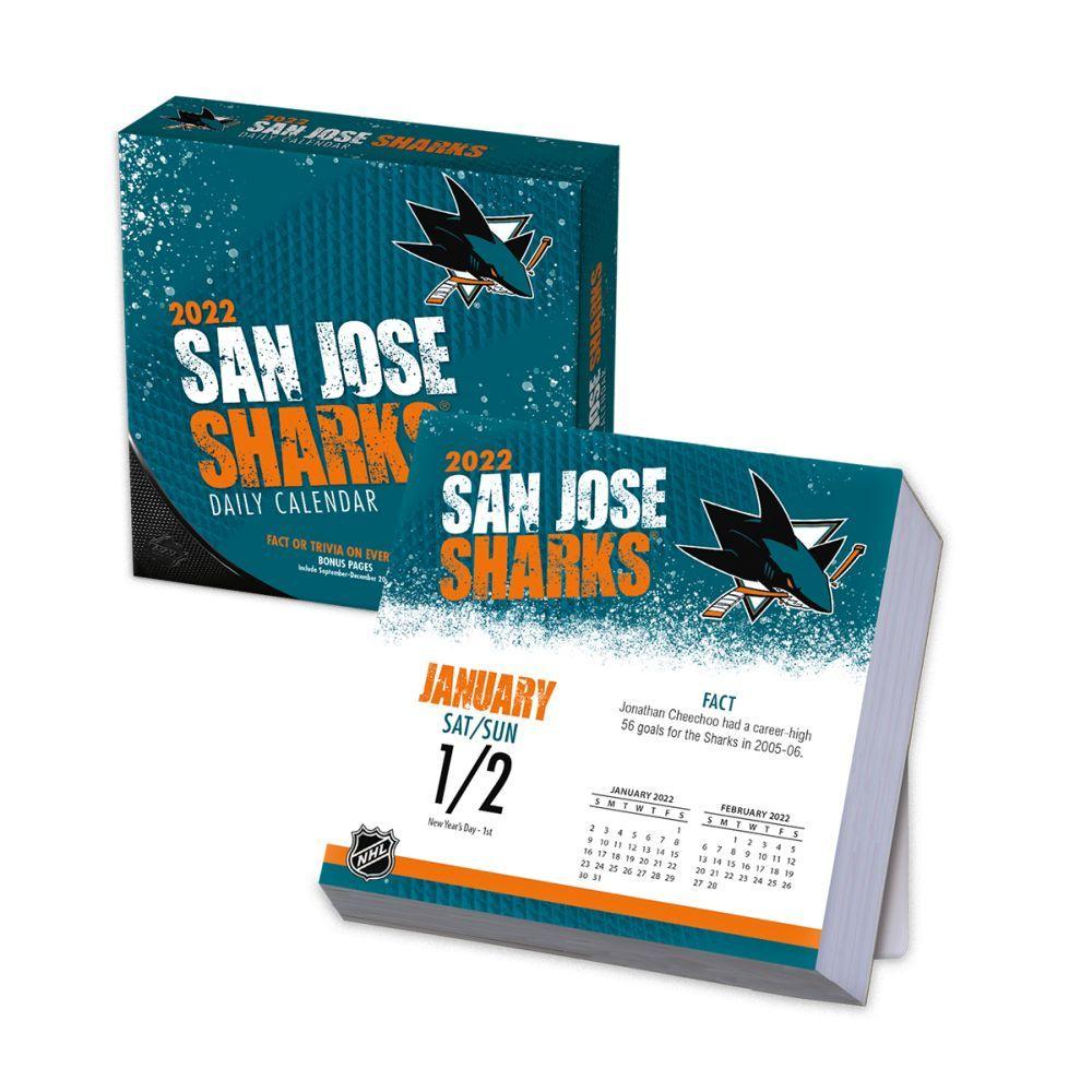 San Jose Sharks 2022 Desk Calendar