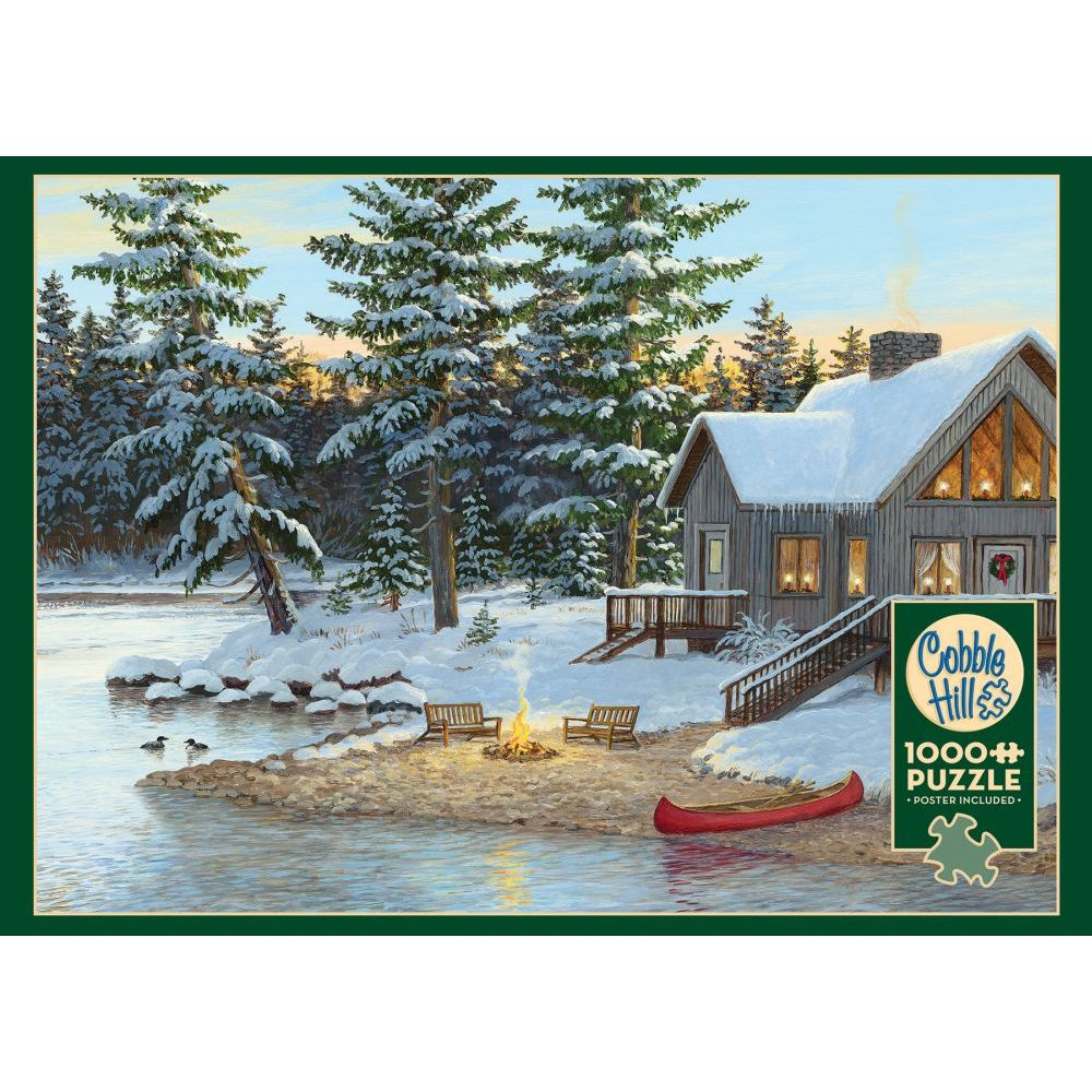 Best Winter at the Cabin 1000pc Puzzle You Can Buy