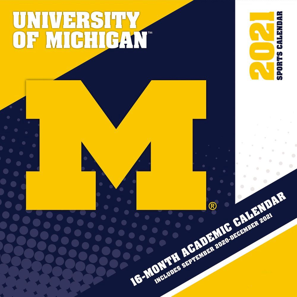 2021 Michigan Wolverines Mini Wall Calendar
