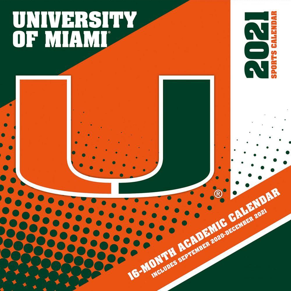 University of Miami Hurricanes 2021 Wall Calendar