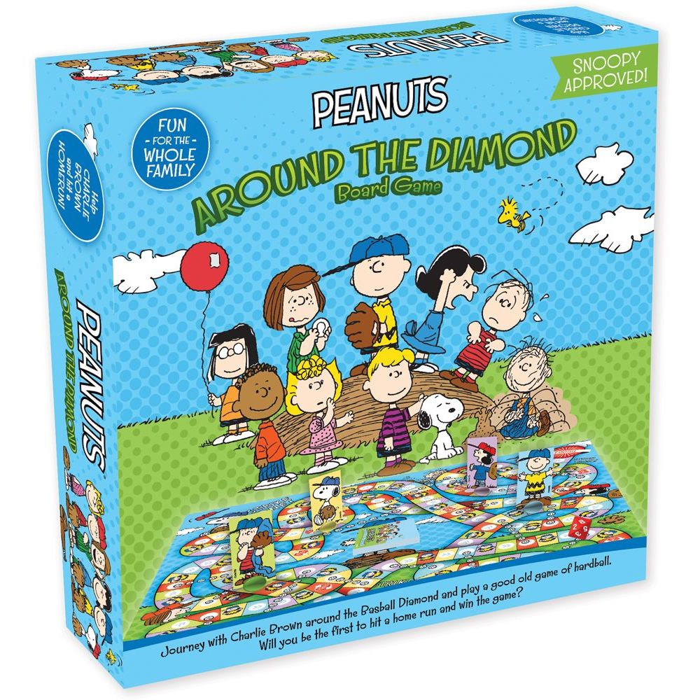 Peanuts Around The Diamond Journey Board Game