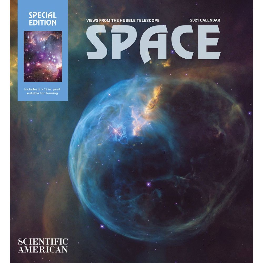 2021 Space Hubble Telescope Special Edition Wall Calendar
