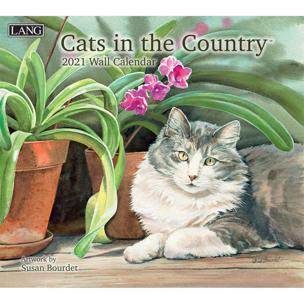 2021 Cats in the Country Wall Calendar by Susan Bourdet
