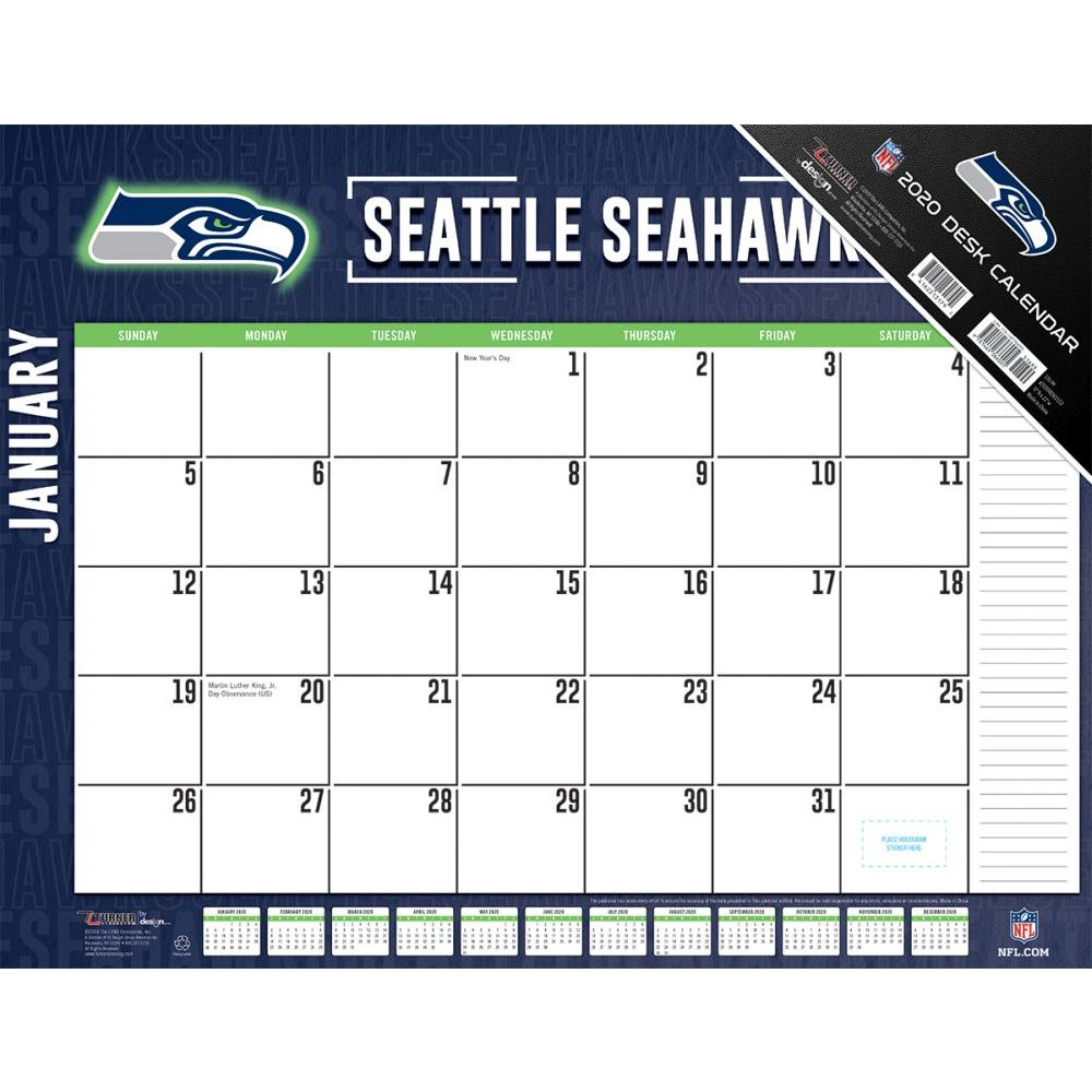 Seattle Seahawks 2021 Desk Pad