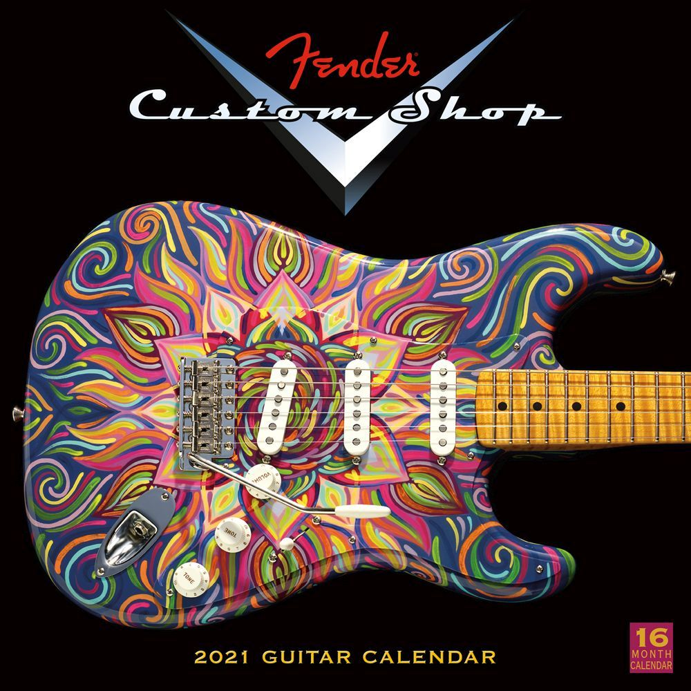Fender Custom Shop Guitar 2021 Wall Calendar