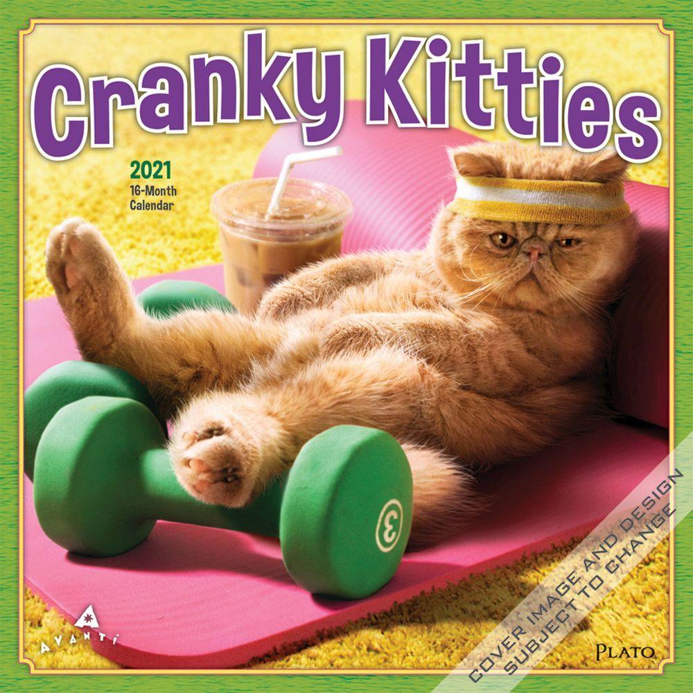 Cranky Kitties 2021 Wall Calendar