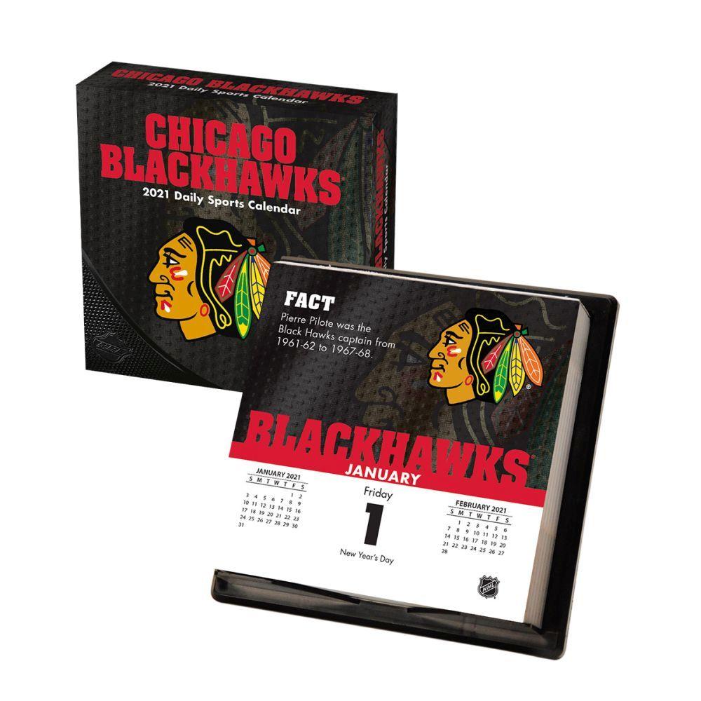 2021 Chicago Blackhawks Desk Calendar