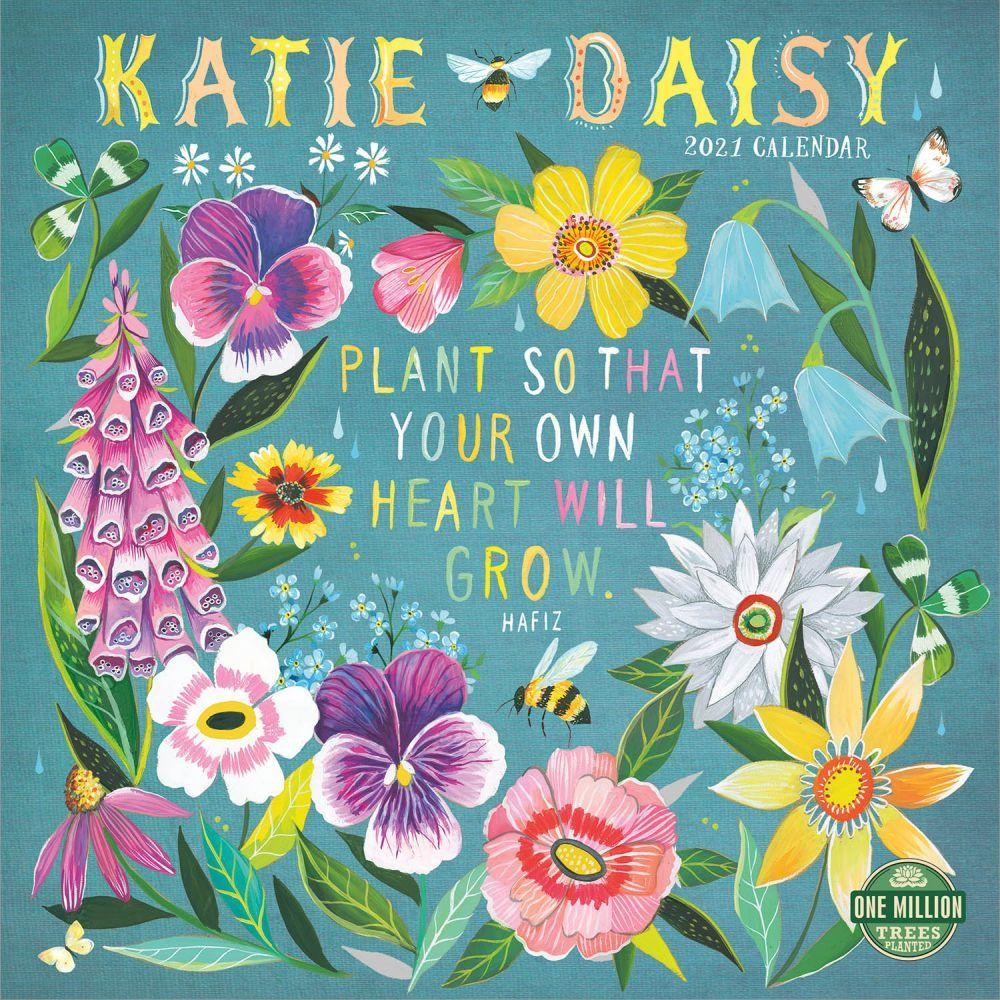 2021 Katie Daisy Wall Calendar
