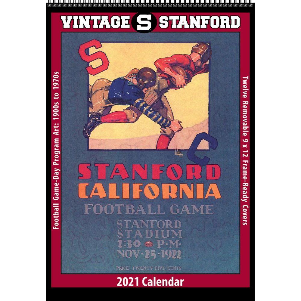 2021 Stanford Vintage Football Wall Calendar