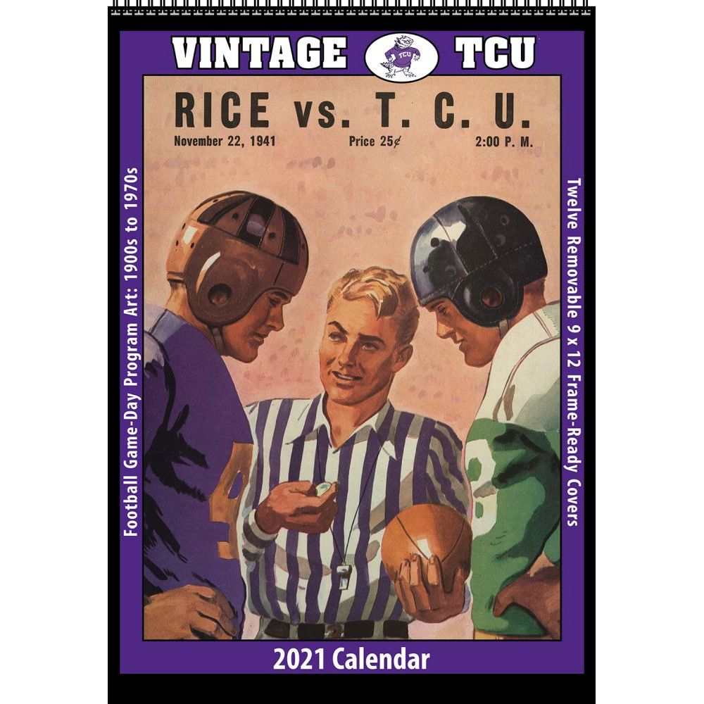 2021 TCU Vintage Football Wall Calendar