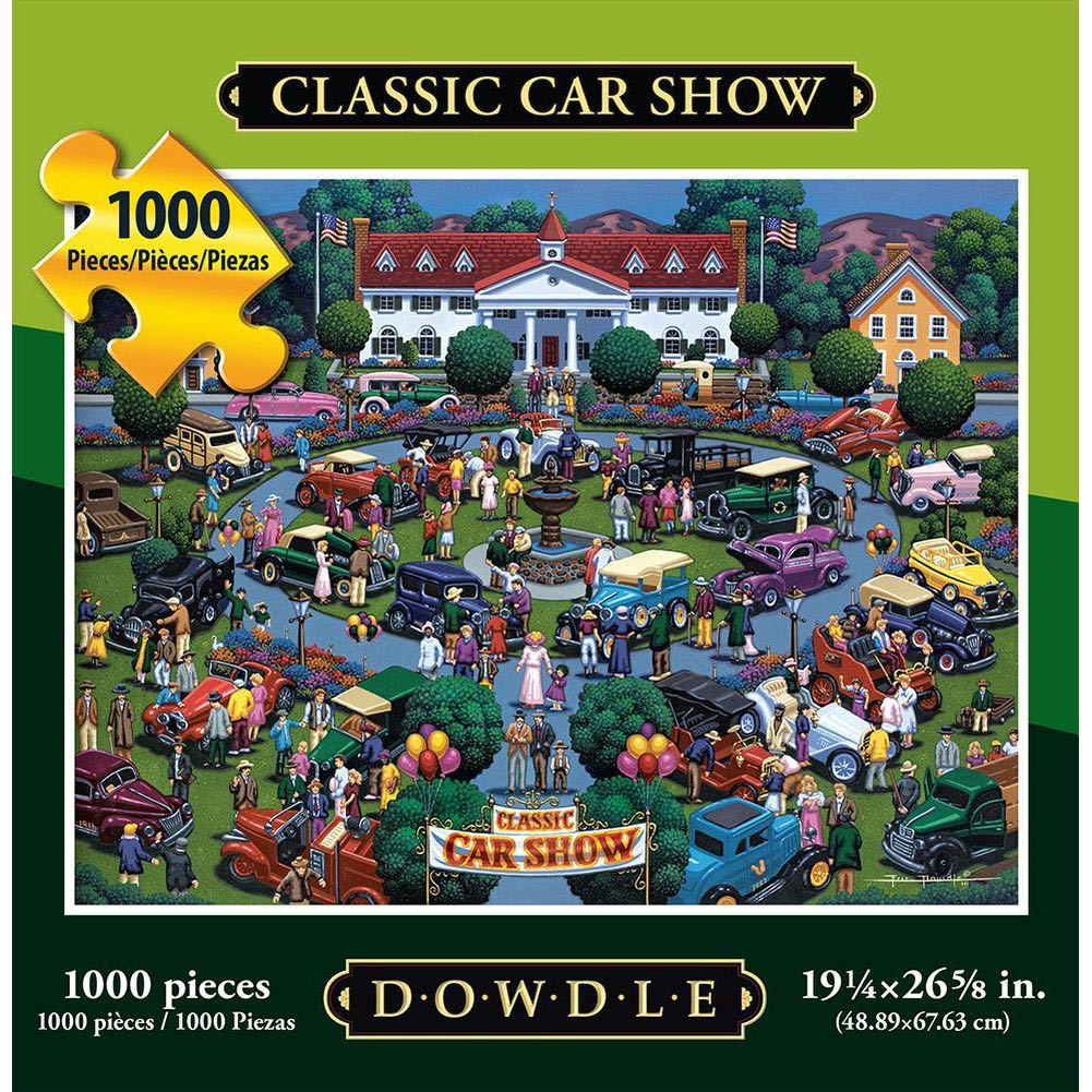 Best Classic Car Show 1000 Piece Puzzle You Can Buy