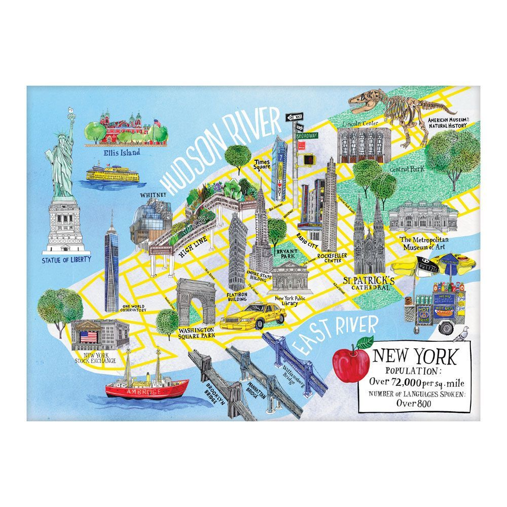 Best New York City Map 1000pc Puzzle You Can Buy