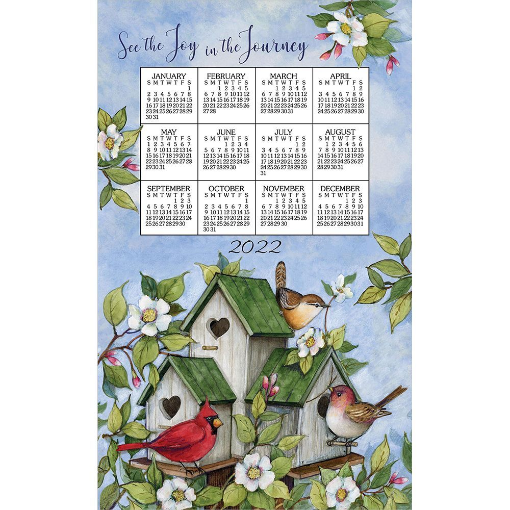 Birdhouses 2022 Kitchen Towel Calendar