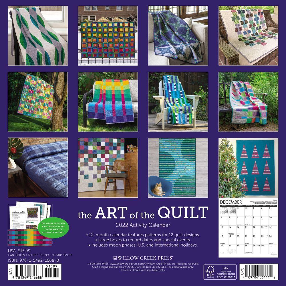 Calendrier Jumping International 2022 Art of the Quilt 2022 Wall Calendar   Calendars.com