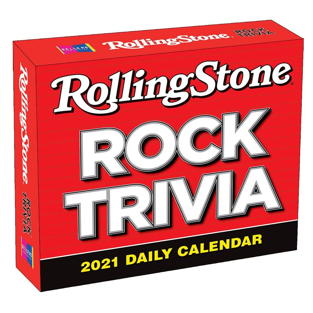 Rolling Stone Rock Trivia 2021 Desk Calenda