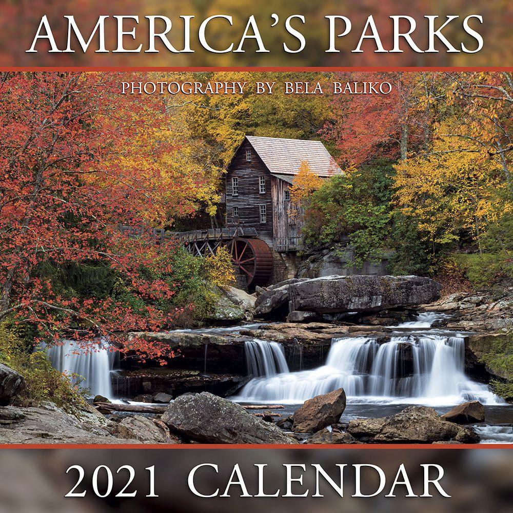 2021 Americas Parks Wall Calendar