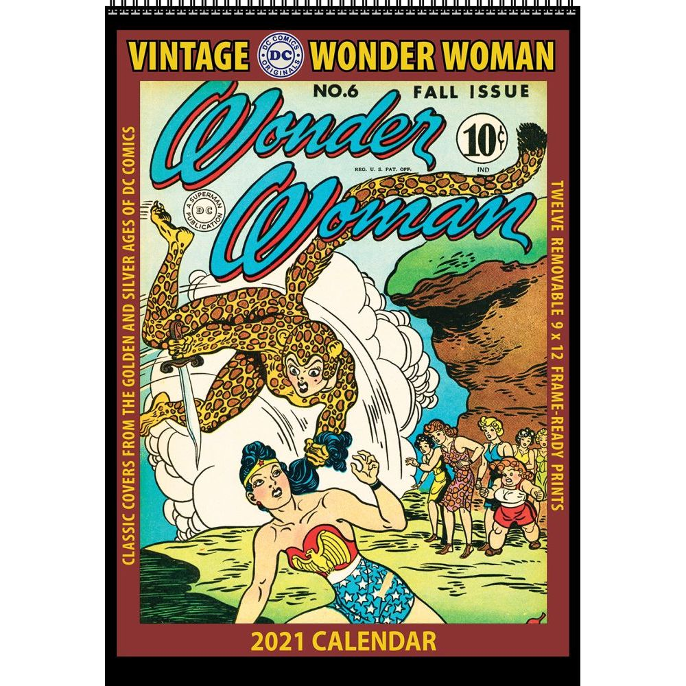 Wonder Woman Vintage Wall Calendar