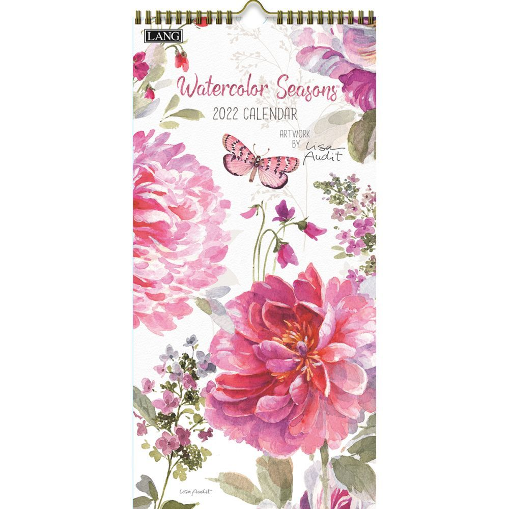 Watercolor Seasons 2022 Vertical Wall Calendar