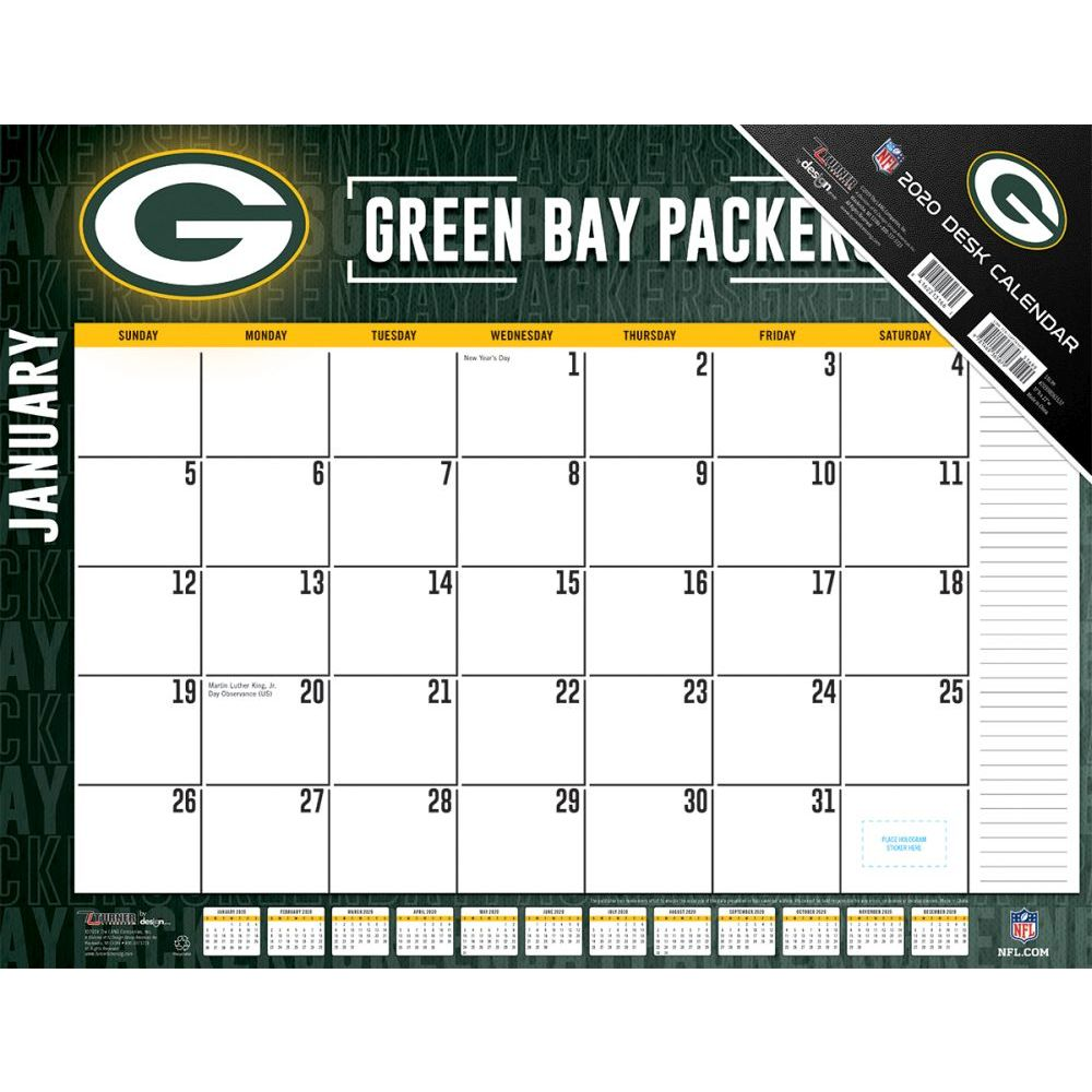 Green Bay Packers 2021 Desk Pad