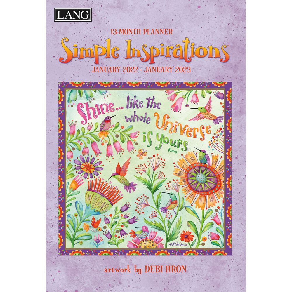 Simple Inspirations 2022 Monthly Planner