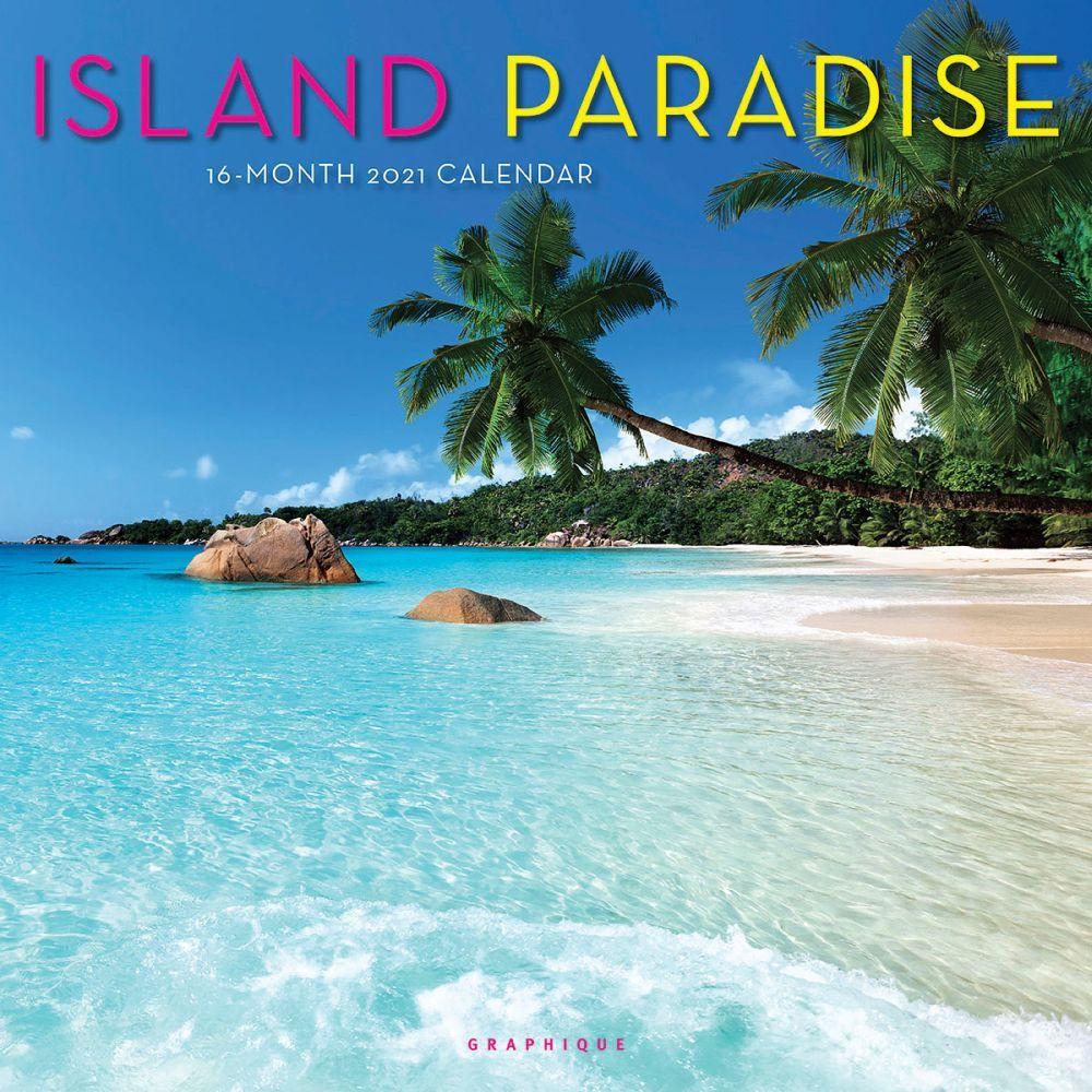 2021 Island Paradise Wall Calendar
