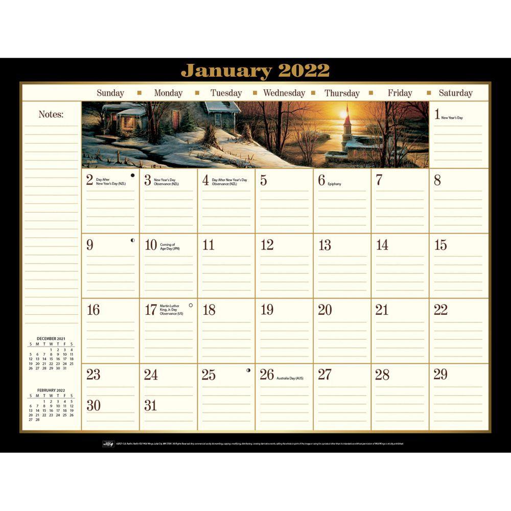 Terry Redlin 2022 Desk Pad Calendar