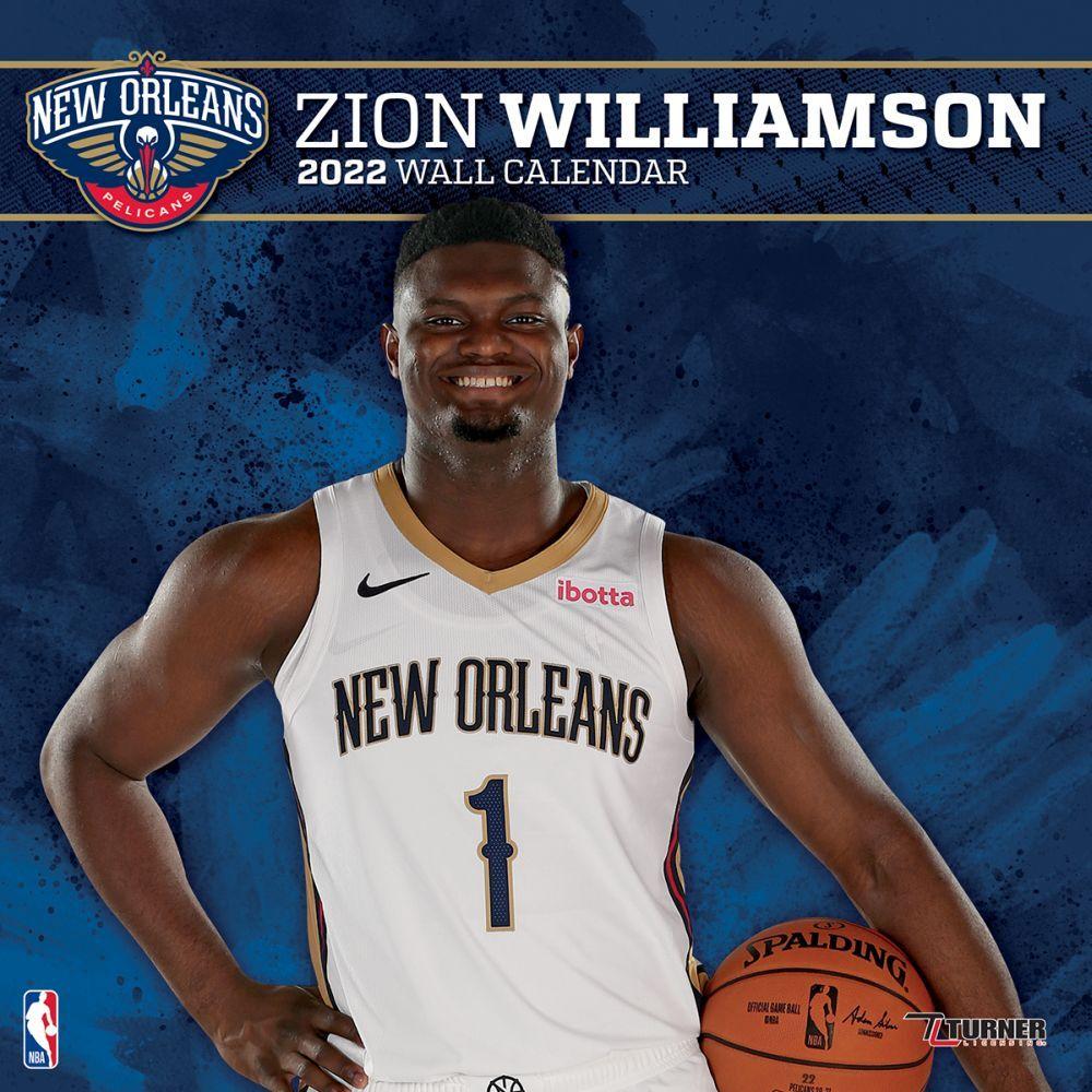 New Orleans Pelicans Zion Williamson 2022 Wall Calendar