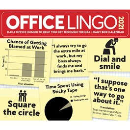 Office Lingo Desk Calendar
