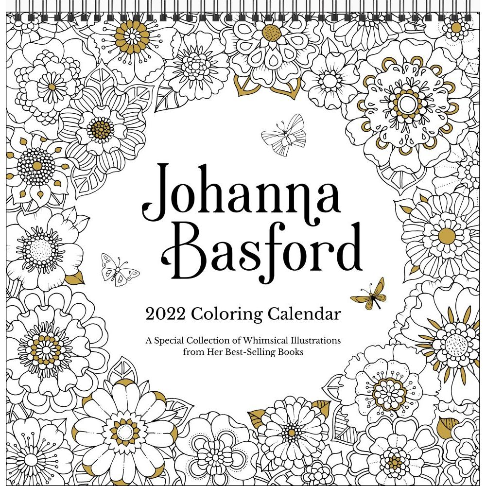 Johanna Basford 2022 Coloring Wall Calendar