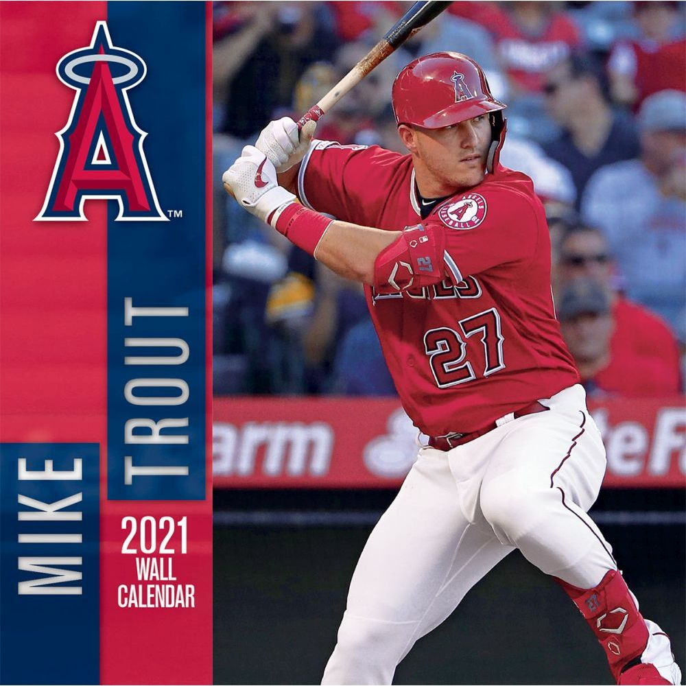 2021 Los Angeles Angels Mike Trout Player Wall Calendar