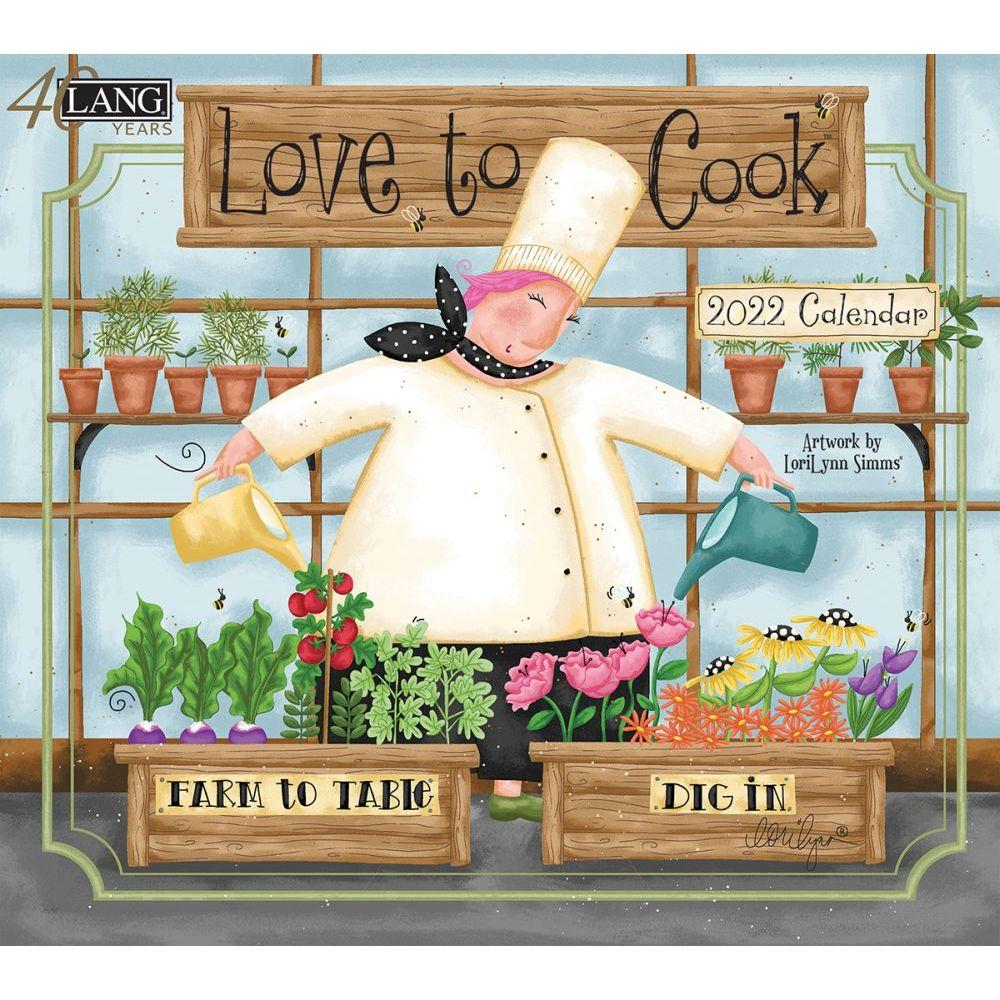 Love To Cook 2022 Wall Calendar