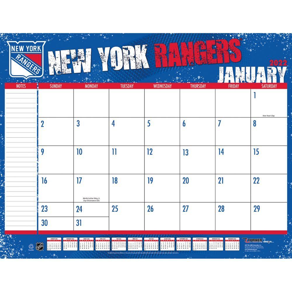 New York Rangers 2022 Desk Pad