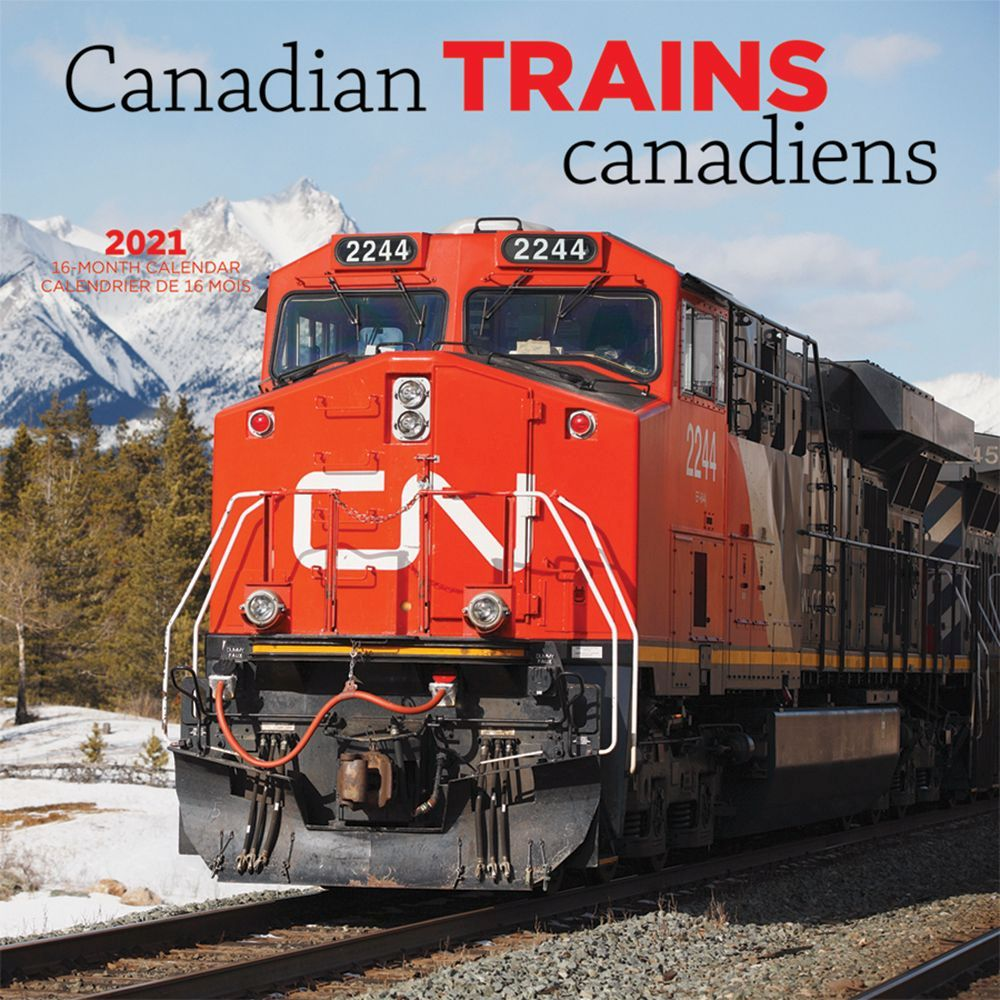 2021 Trains Canadian Wall Calendar
