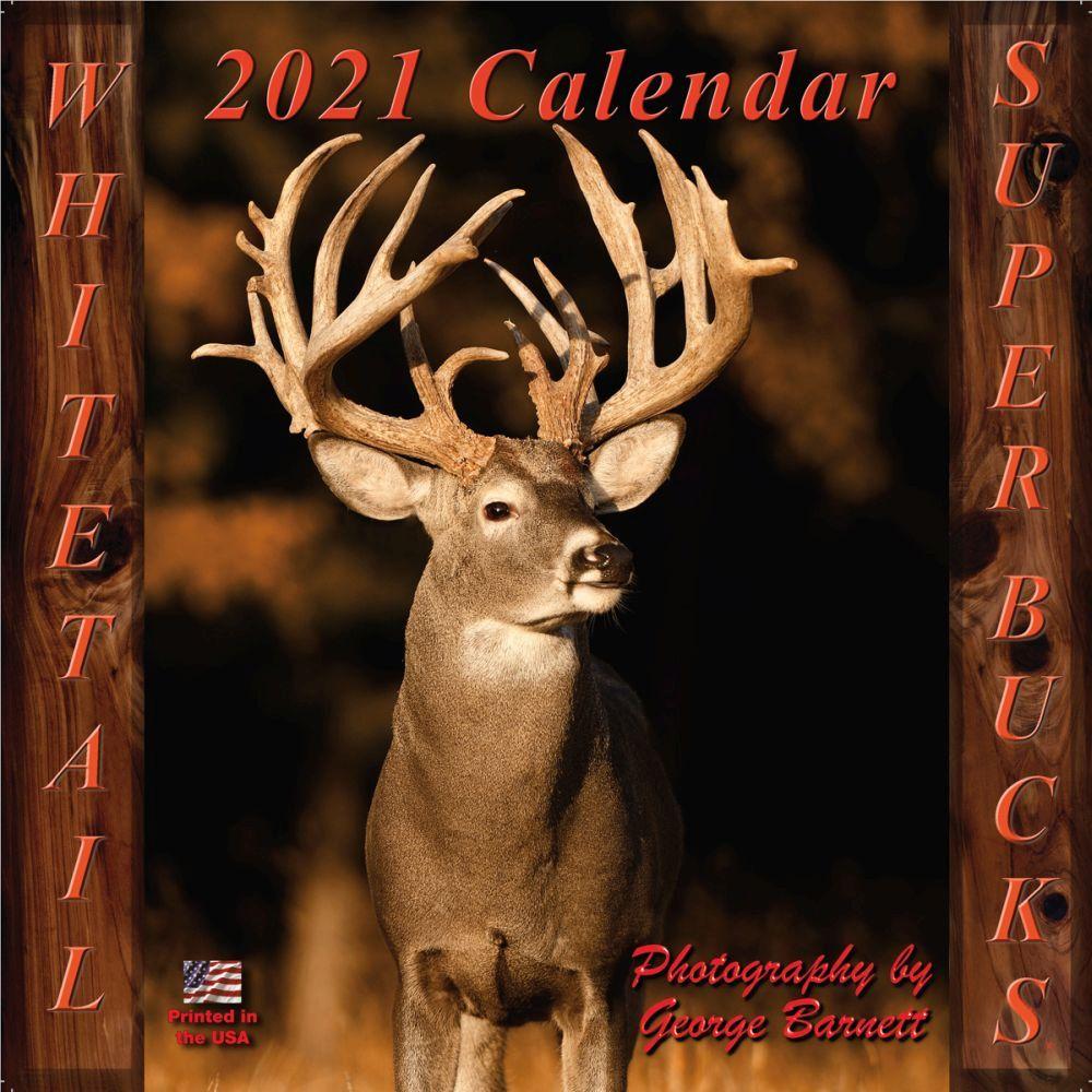 2021 Deer Whitetail Super Bucks Wall Calendar