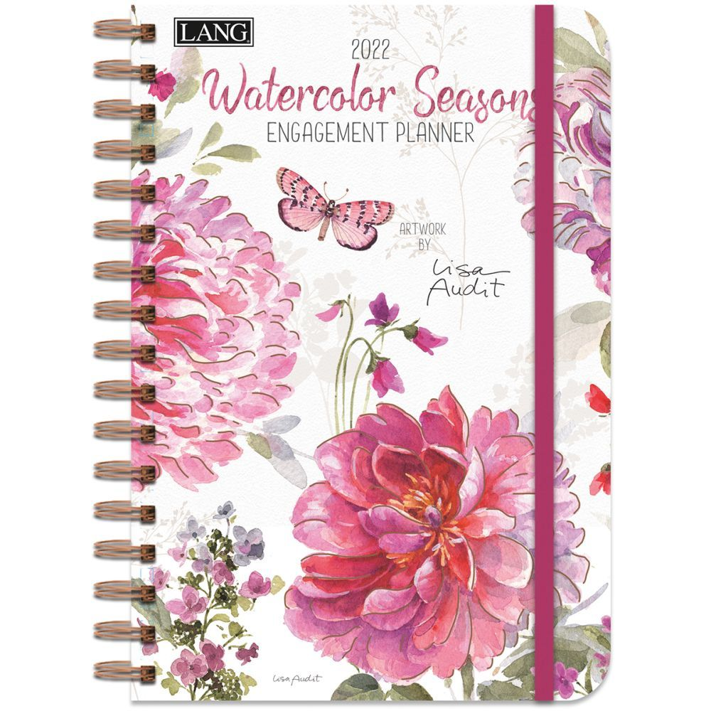 Watercolor Seasons 2022 Spiral Engagement Planner