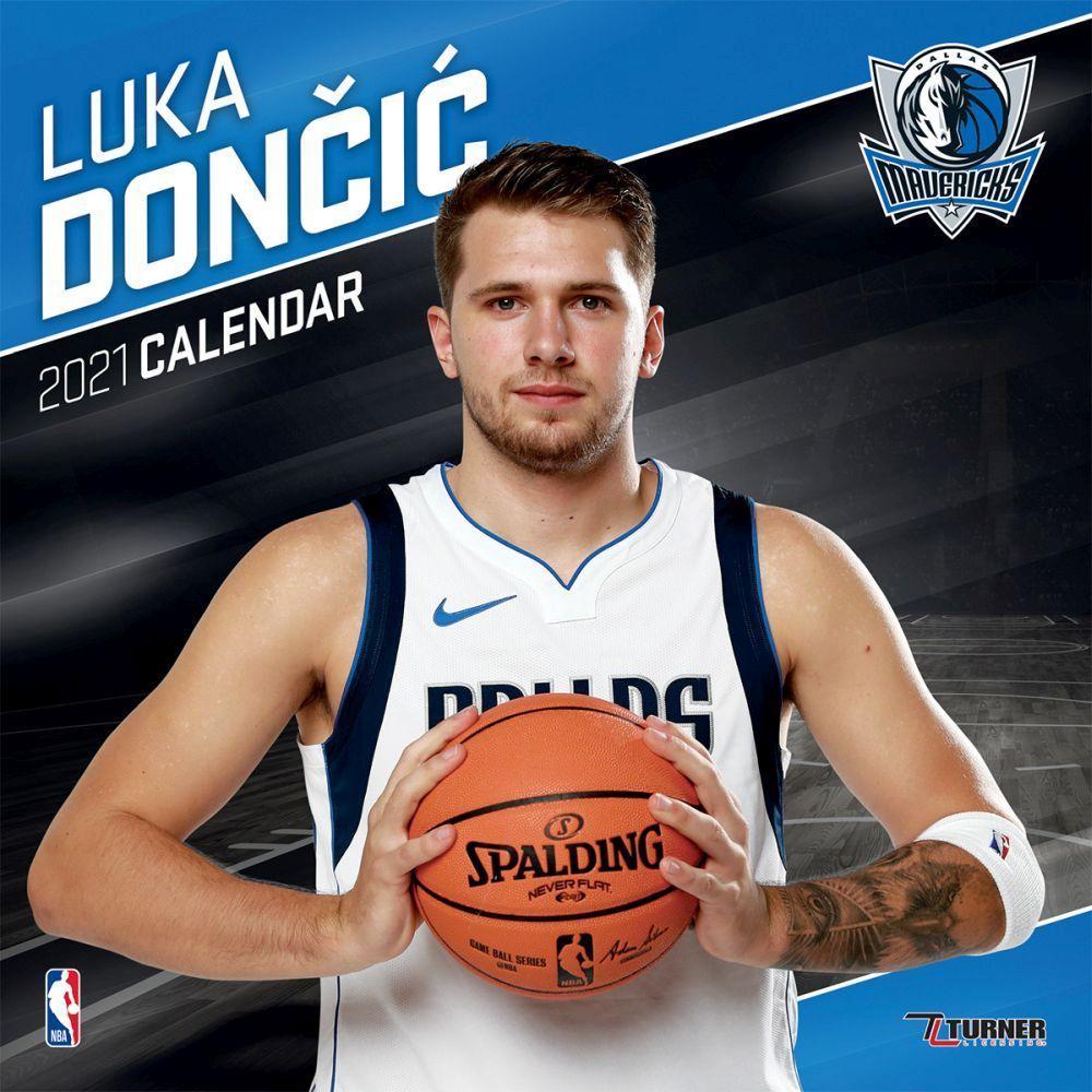 2021 NBA Luka Doncic Mavericks Wall Calendar