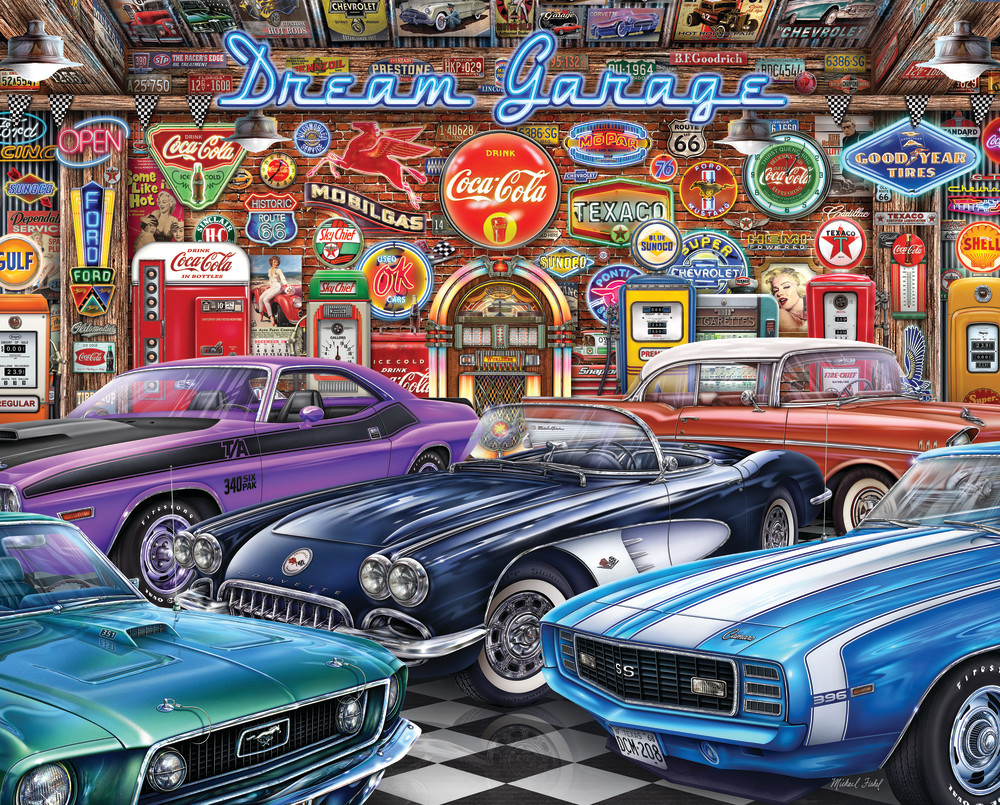 Best Dream Garage 1000pc Puzzle You Can Buy