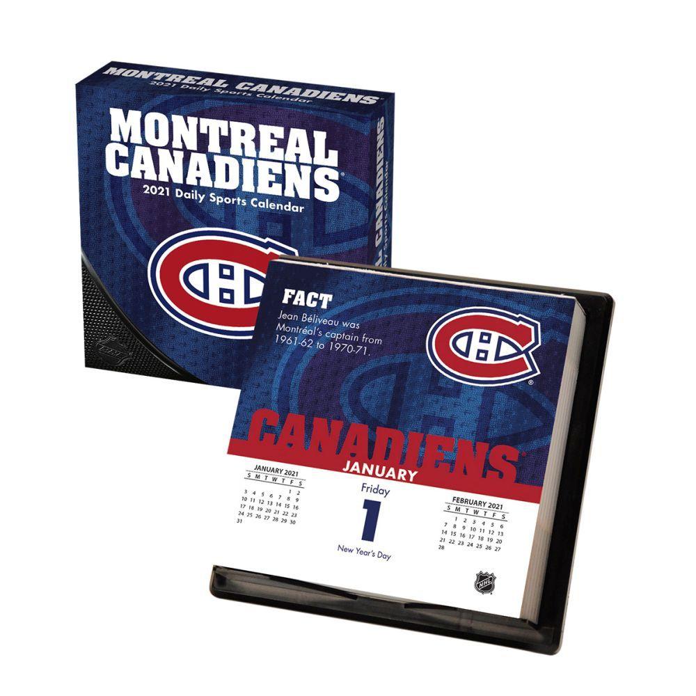2021 Montreal Canadiens Desk Calendar