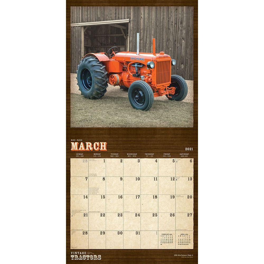 Tractors Vintage Wall Calendar   Calendars.com